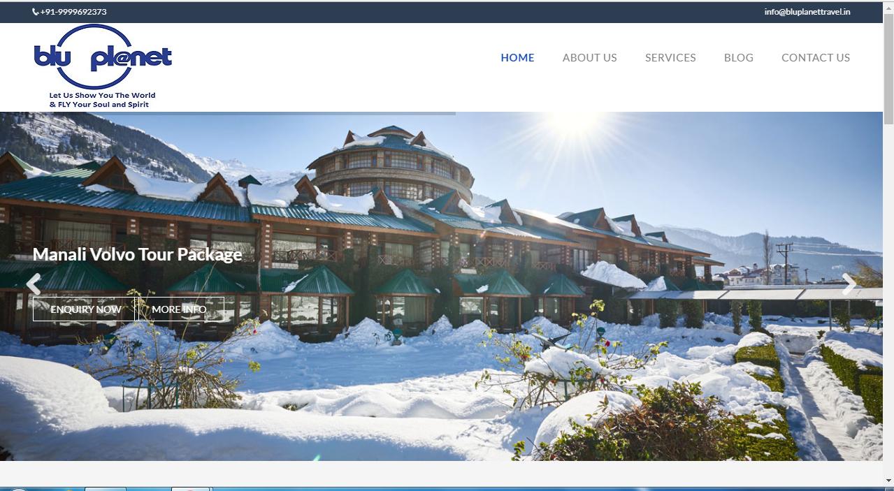 Wordpress Website For Travel Agency Blu Planet travel