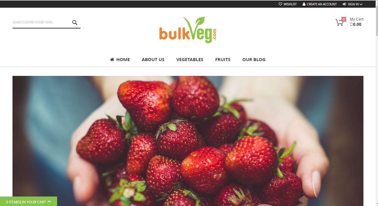 Wholesale vegetable fruits Platform on Magento eCommerce
