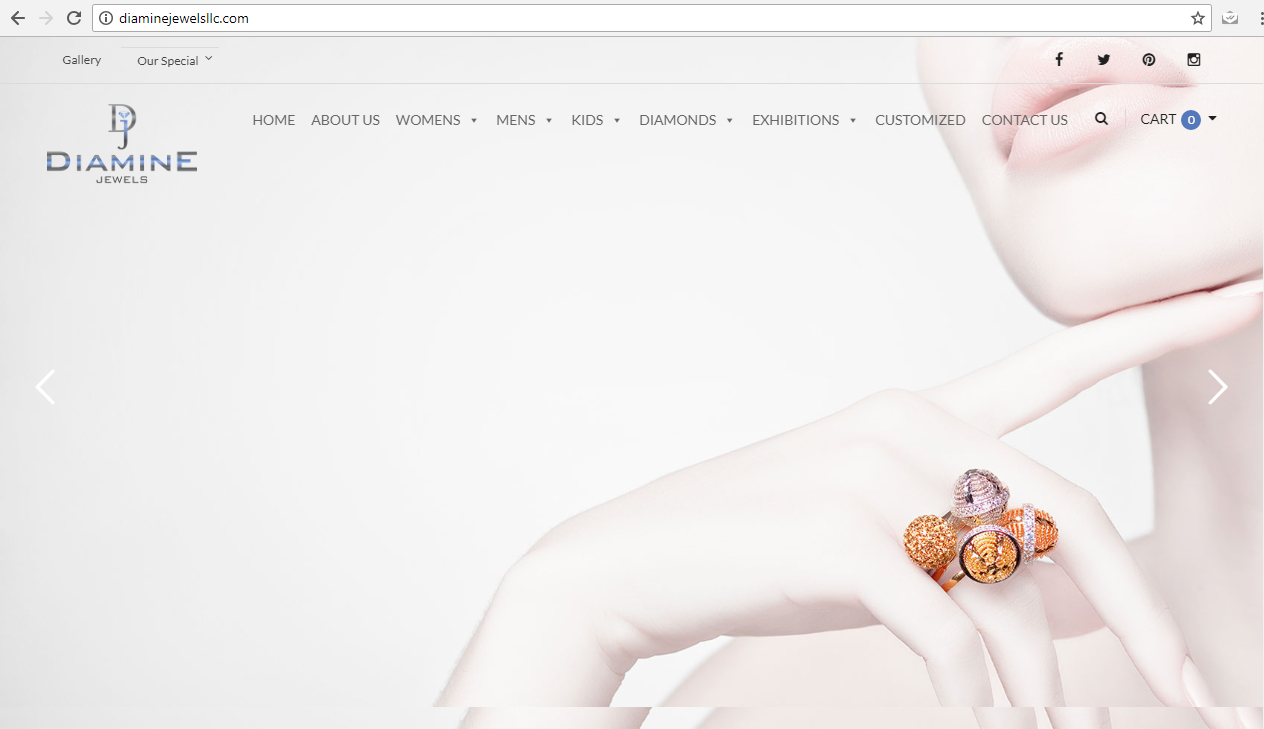 Website Design for Jewelry Business