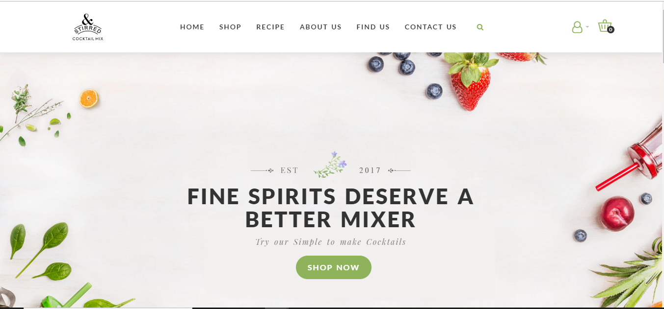 Opencart eCommerce Design and Development for Drinks