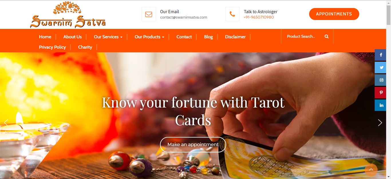 Astrologer Website Design and Development on WordPress